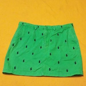 GUC Ralph Lauren  Green Pony Mini Skirt  8